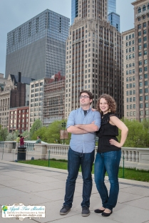 Millenium Park Chicago Engagement Photos-1