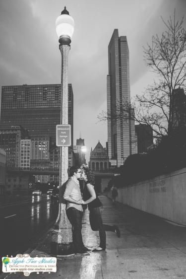 Millenium Park Chicago Engagement Photos-19
