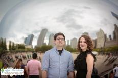 Millenium Park Chicago Engagement Photos-2