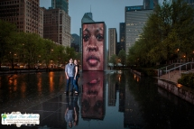 Millenium Park Chicago Engagement Photos-21