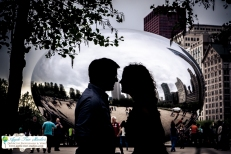 Millenium Park Chicago Engagement Photos-3