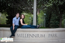Millenium Park Chicago Engagement Photos-9
