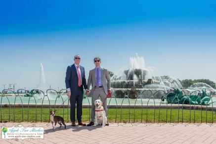 Grant Park Rose Garden Chicago Wedding-1