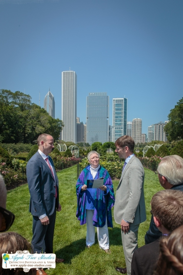 Grant Park Rose Garden Chicago Wedding-15