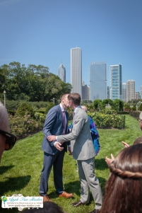 Grant Park Rose Garden Chicago Wedding-17