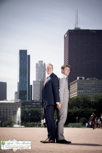 Grant Park Rose Garden Chicago Wedding-21
